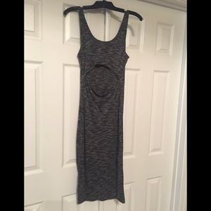 Knit Mid Length Dress- Open Back